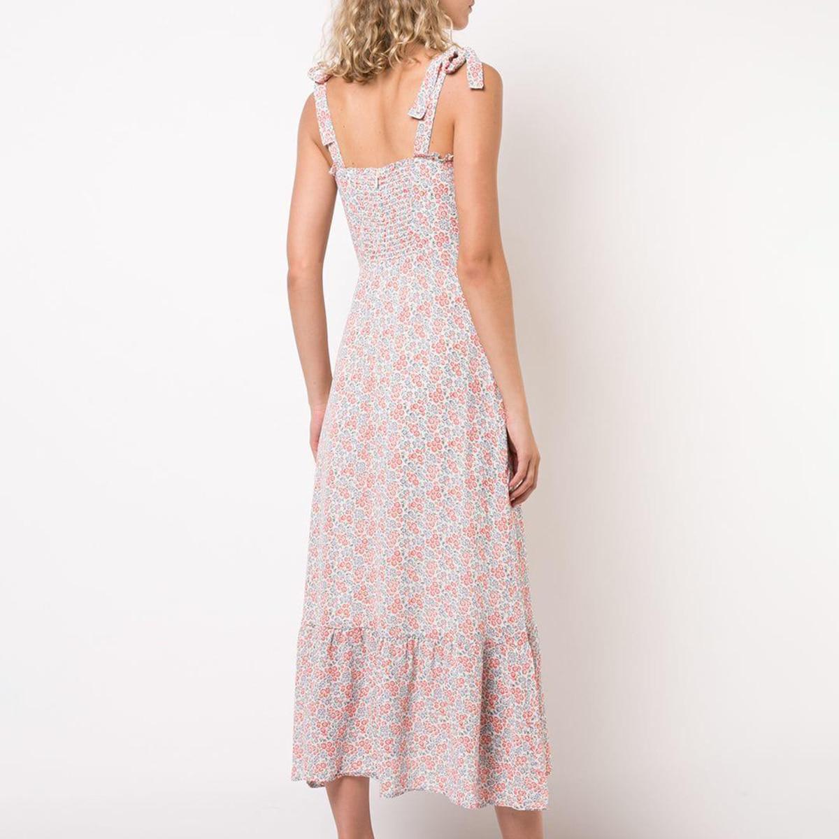 840356be30b89 Nikita Vintage Midi Dress Women Chic 2019 Summer Strapless Sleeveless Sexy  Dress Ladies Retro Floral Print Party Club Dress - lztees