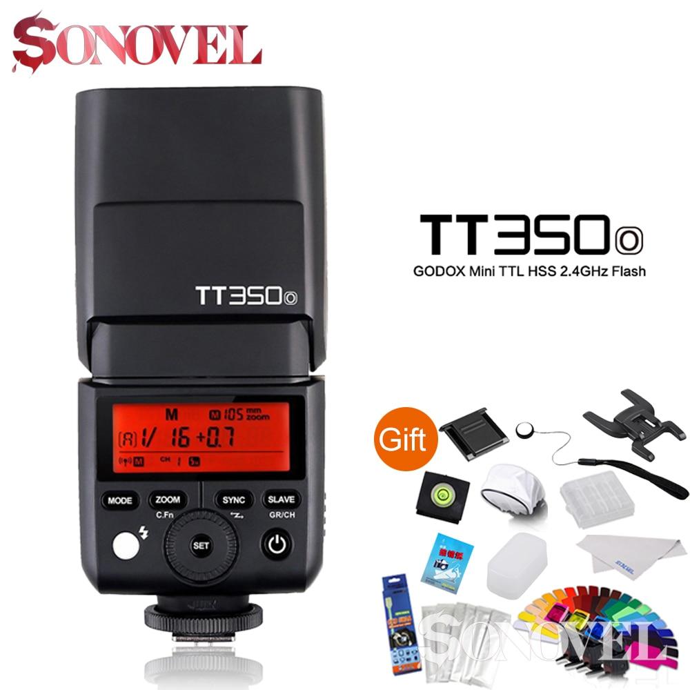 Godox TT350O TT350 2.4G TTL 1 / 8000s HSS GN36 Camera Flash Speedlite for Olympus / Panasonic / Lumix Camera in stock godox mini speedlite tt350 tt350o camera flash ttl hss gn36 for olympus panasonic mirrorless dslr camera