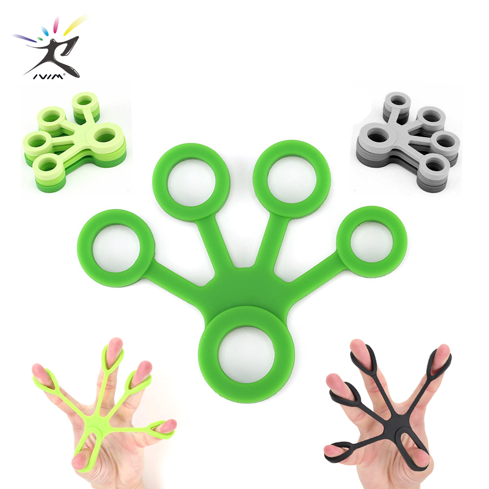 1Pcs Silicone Hand Expander Finger Hand Grip Finger Training Stretcher Trainer Strength Resistance Bands Wrist Exercise Fitness