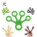 1Pcs Silikon Hand Expander Finger Hand Grip Finger Ausbildung Bahre Trainer Festigkeit Widerstand Bands Handgelenk Übung Fitness
