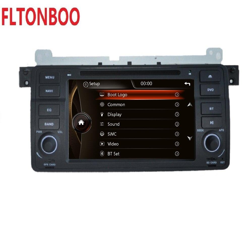Lecteur dvd de voiture 7 pouces pour bmw série 3 E46, M3 avec navigation gps radio stéréo bluetooth canbus RDS FM 1080P IPOD original UI