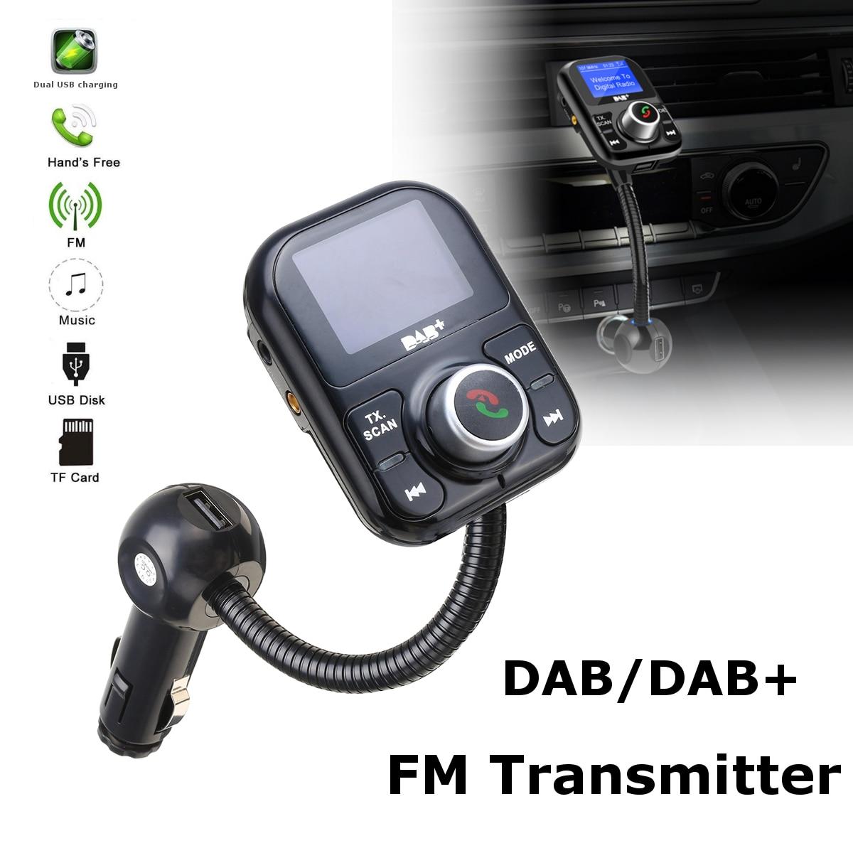 Bluetooth Hands free автомобильный DAB + комплект цифровое радио с двойной адаптер USB приемник передатчик тюнер FM антенна зарядки порты