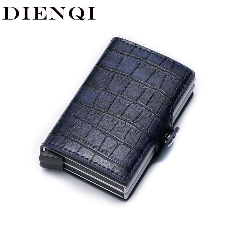 DIENQI Short Purse Smart Wallets Rfid-Card Magic-Walet Small Leather Thin Vintage Slim