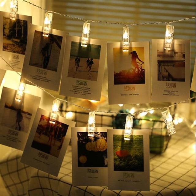 1.5M 10 Led Fashion Photos Clip String Lights Battery LED Decoration Fairy Light Christmas Lights Wedding Party Home Decor