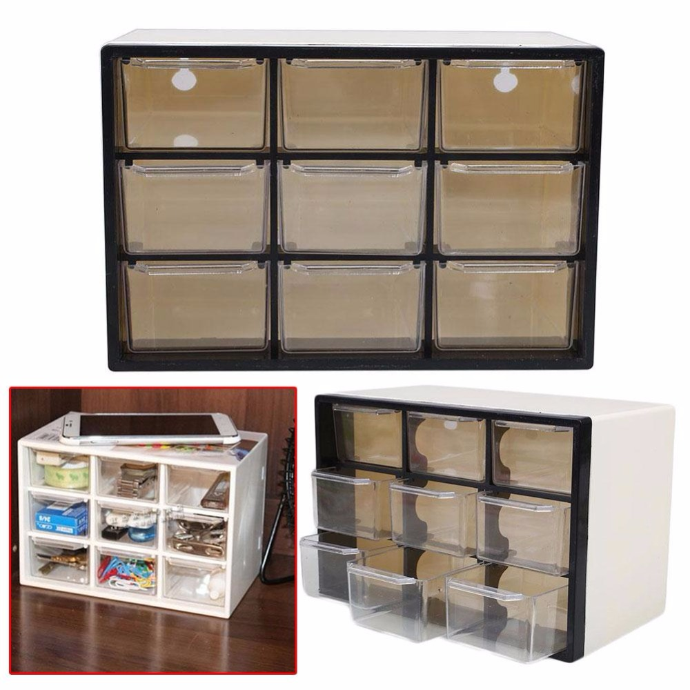 Drawer Plastic Storage Cabinet White Bin Box Chest Of ...