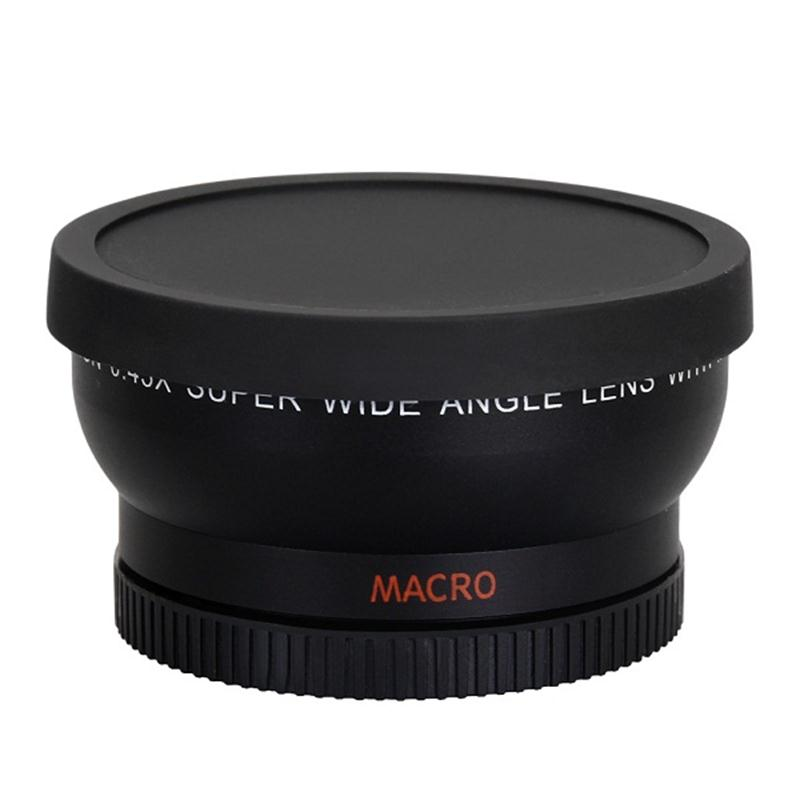 58MM 0.45x Wide Angle Lens + Macro Lens for Cannon 5D/60D/ 70D/350D / 400D / 450D / 500D /1000D/ 550D / 600D /1100D 18-55MM Lens