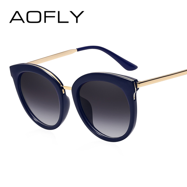 8d8d5a266f AOFLY Cat Eye Sunglasses for Women Summer Vintage Style Alloy Legs New  Classic Goggle Sun Glasses
