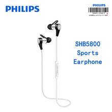 Philips SHB5800 Sports Earphone Wireless Bluetooth connection with Mic Lithium Battery Micro USB headsets Support NFC Function(China)