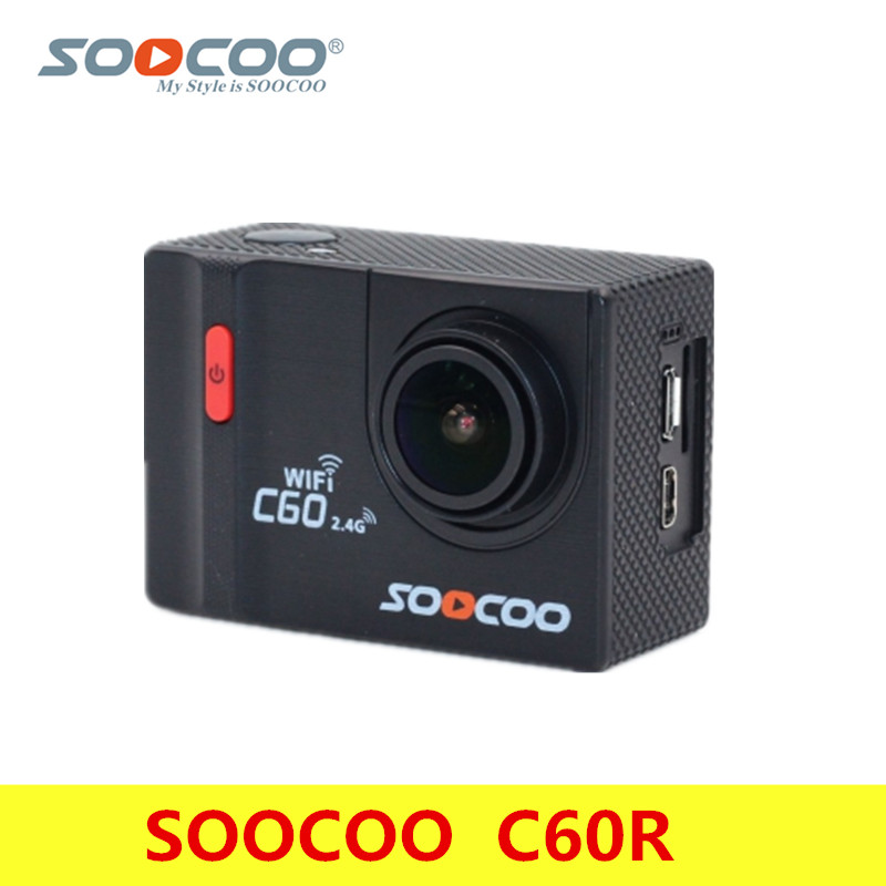 Original SOOCOO C60R 4K Action Camera 2.0'' Inch 30M Waterproof WiFi Remote Control Built-In Gyroscope Sports Camera Anti-Shake soocoo c30 sports action camera wifi 4k gyro 2 0 lcd ntk96660 30m waterproof adjustable viewing angles