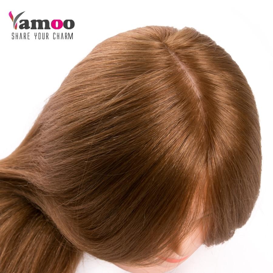 Trenerska glava za salon 60% resnični frizerski lasje za lase - Nega las in styling - Fotografija 5