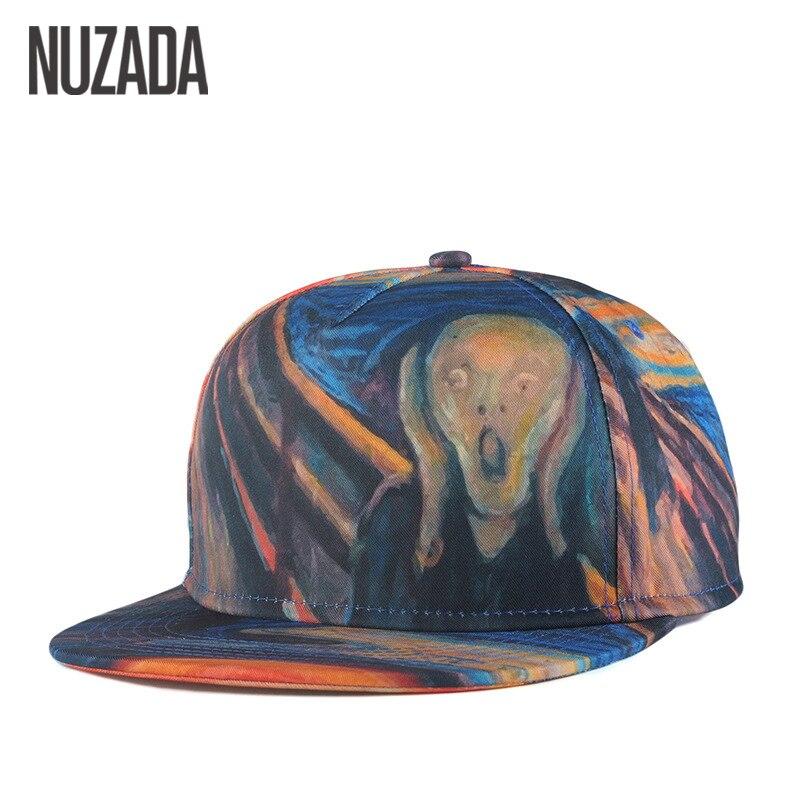 Prix pour Marques NUZADA Couleur Peinture Porche Crâne Printemps Été Hommes Femmes Chapeau Chapeaux Casquette de baseball Hip Hop Snapback Casquettes jt-008