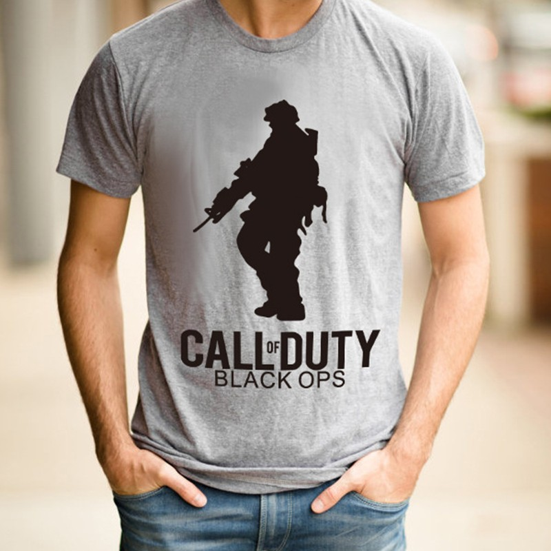 Men's T-Shirt Summer Short Sleeve Round Neck Print T-Shirt Call Of Duty T-Shirt Fashion Casual Men's Personality Hip-Hop T-Shirt