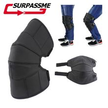 1 pair of Motorcycle Protective knee pad Electric Moto Knee Pad Warmer Winter Outdoor Leather Motorcycle Protective knee pad woolen windproof cold proof knee pad off white pair set