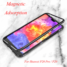 For Huawei P20 Pro Case Magnetic Adsorption P 20 Magnet Tempered Glass for P20+
