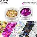 1 g/pcs Mini Paillette Mariposa Diseños Forma Colores De Esmalte de Gel de Uñas Glitters DIY Nail Art Lentejuelas Decor 3D Consejos HD01-05