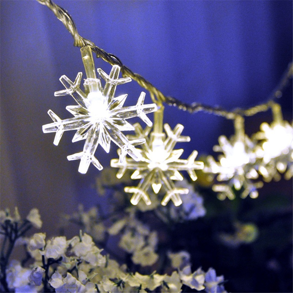 led string lights 10M 33ft 100led snowflake outdoor Warm white/RGB AC220V/110V christmas festival wedding party decoration недорго, оригинальная цена