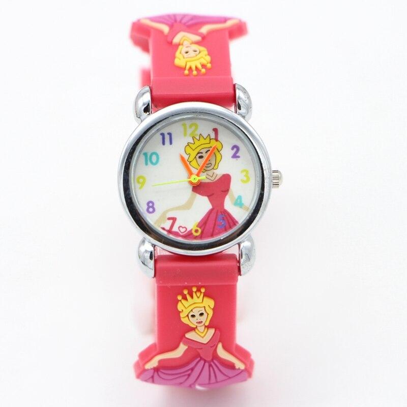 3D Cartoon Princess Design Analog Watches Children Kids Watch Boys Gift Watch Casual Quartz Wristwatch Relogio Relojes Clock