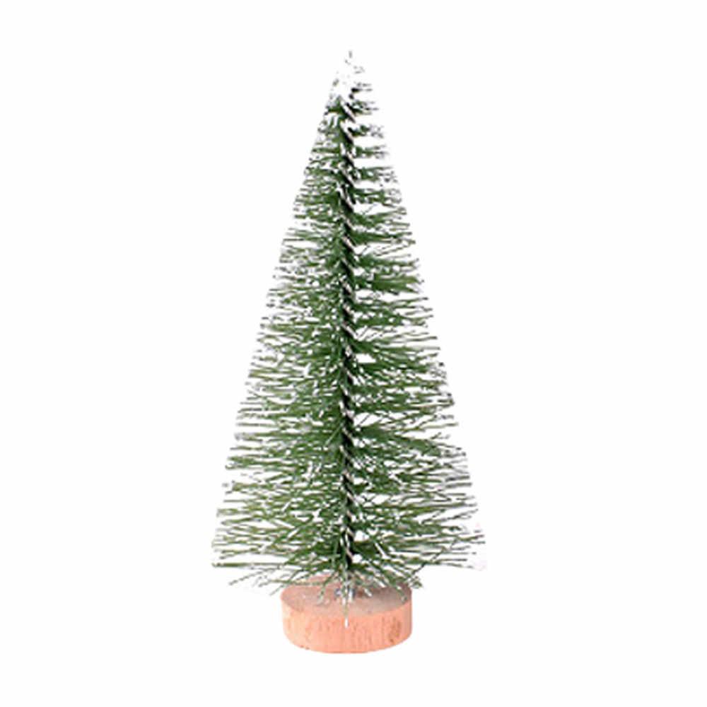 Рождественская елка мини сосна с деревянной основой DIY домашний стол топ декор