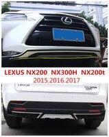 Auto BUMPER GUARD For LEXUS NX200t NX300h NX200 2015.2016.2017 High Quality ABS Guard Plate Front+Rear Car Accessories