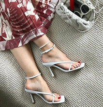 Nethong Xiaobai with Square Head, Toe Clip, High heel and Cold Slipper BV Home New Ankle Sexy Womens Sandals