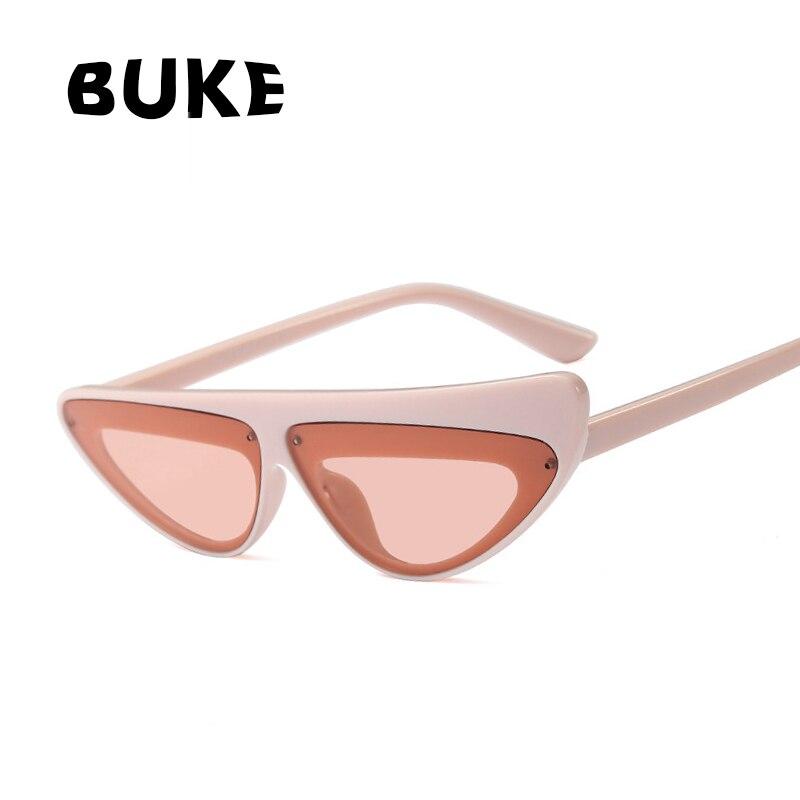 BUKE Vintage Women Sunglasses Cat eye Eyewear Brand Designer 2018 Stylish Sun Glasses UV400 Goggles Oculos de sol Eyewear