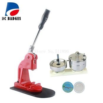 """3"""" 75mm Round button badge making machine including 75mm badge mould"""