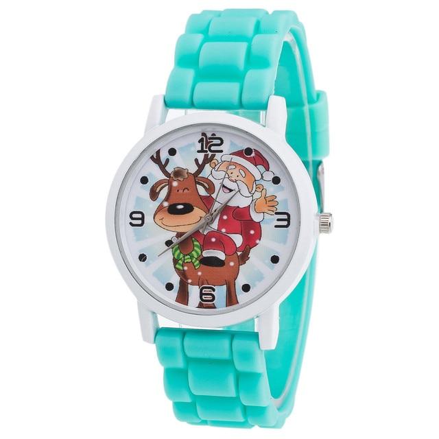 New Christmas Gifts Children Color Fashion Watch Silicone Strap Wrist Watch Vogu