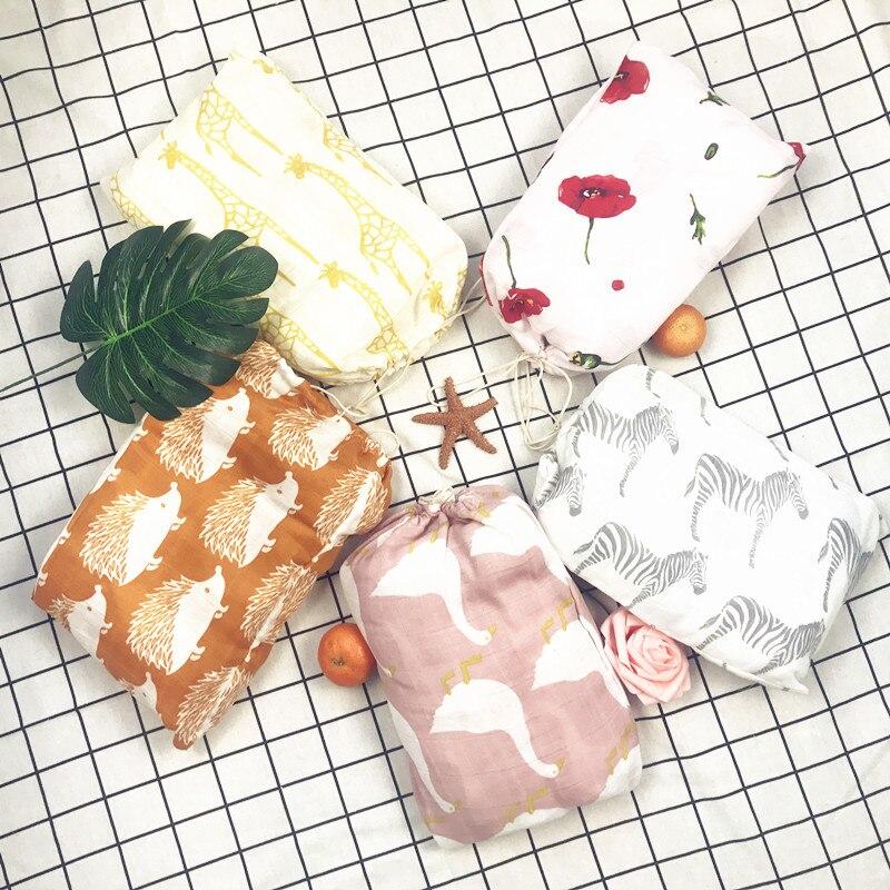 ?етские НбЄрточная бумага органический хлопок пелЄнки из муслина Ндеяло, многофункциональный муслин детские новорожденных Ндеяло, набор ?етская кровать банное полотенце