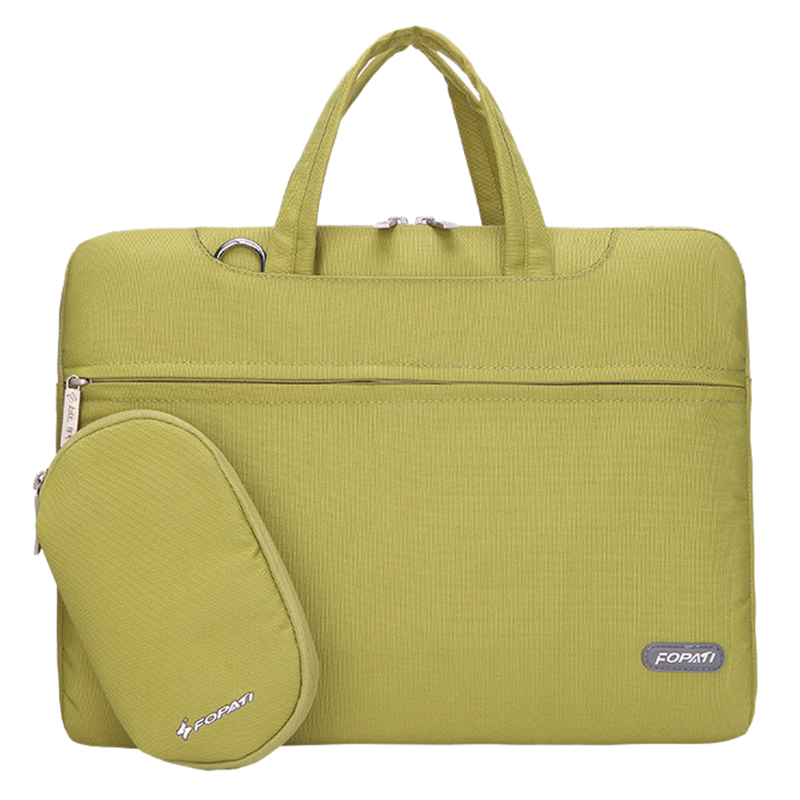 13 inch Laptop Bag Notebook Shoulder Messenger Bag Men Women Handbag Sleeve (Green)