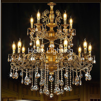 Бесплатная доставка Новые моды латунь Цвет люстры огни K9 кристаллы Медь лампа Медь свет люстры латунь под старину Освещение