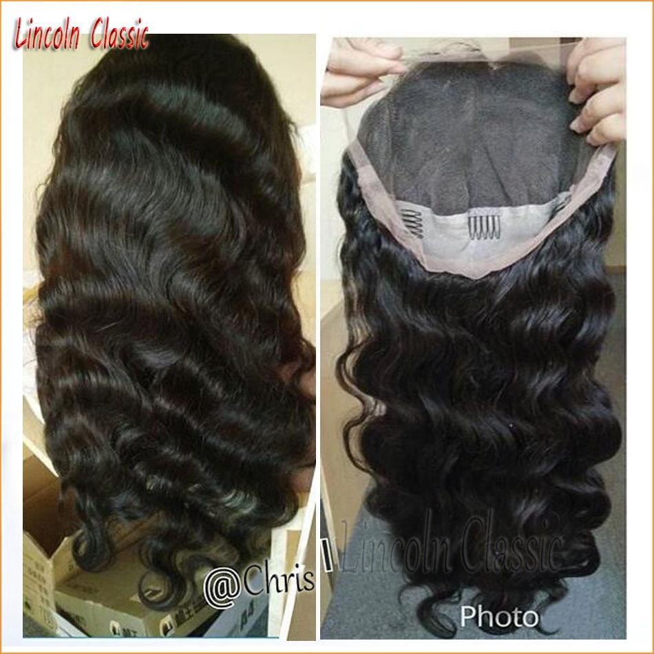 2016 New Beautiful Unprocessed Virgin Human font b Hair b font Body Wave Wigs Full Lace