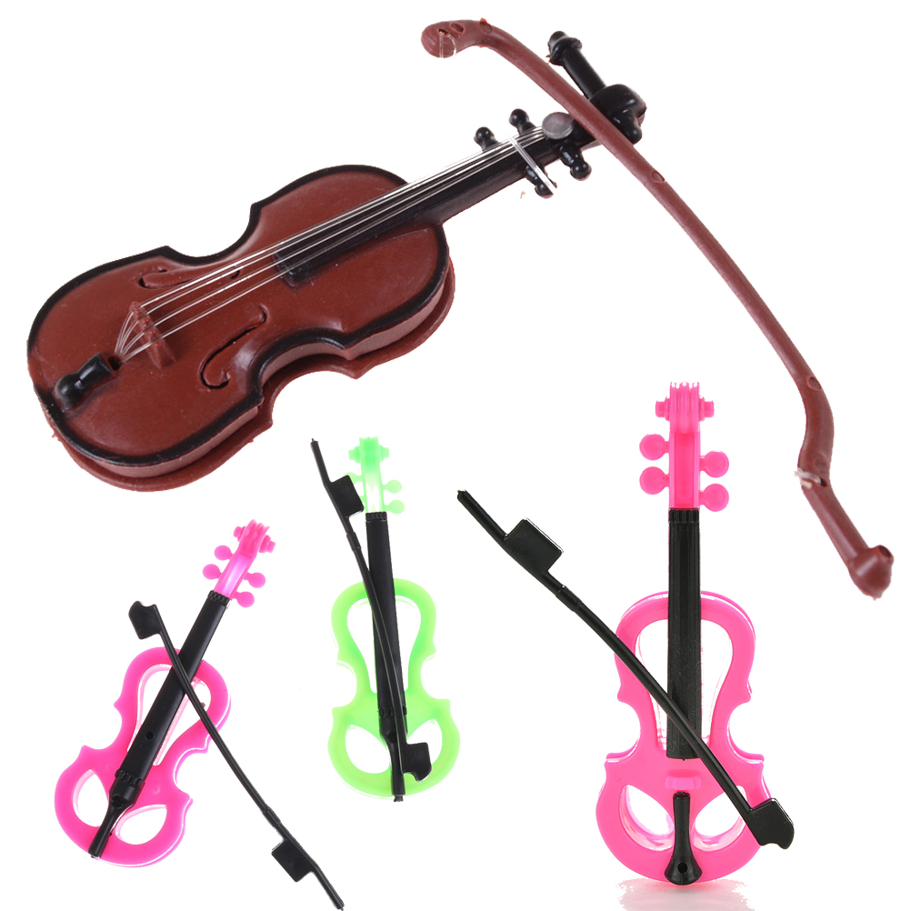 Home Confident New Hot Sale Miniature Music Instrument Plastic Mini Violin Dollhouse Decorative Ornaments Plastic Crafts Diy Home Decoration