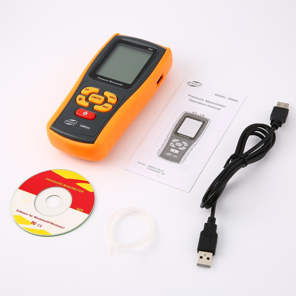 цена на High precision digital pressure gauge GM5505 micro-pressure gauge differential pressure manometer air pressure gauge