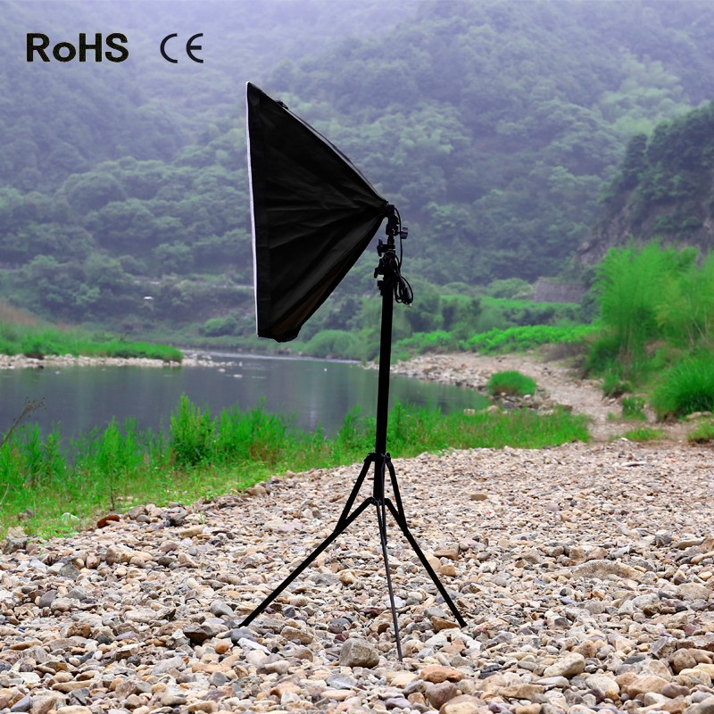 50cm*70cm Photography Softbox Light Lighting Kit Photo Equipment Soft Studio Light Softbox with 240cm/94.5inch Light Stand