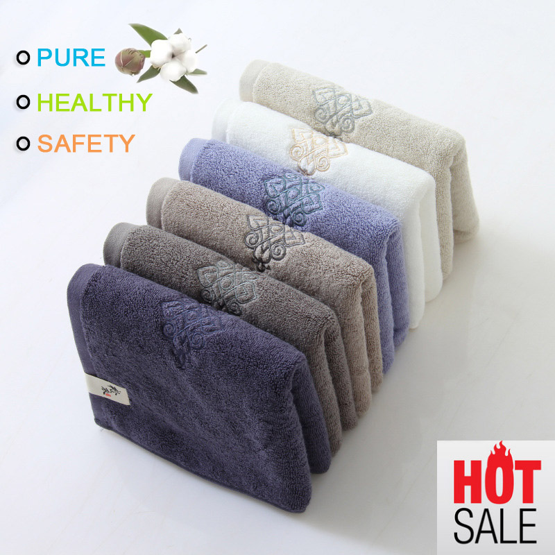 Face Towel Cotton Beach Towel Egypt Cotton Thickened Solid Color Super Absorbent 35x75cm 165g Hotel Gift Bath Sport Gym Travel