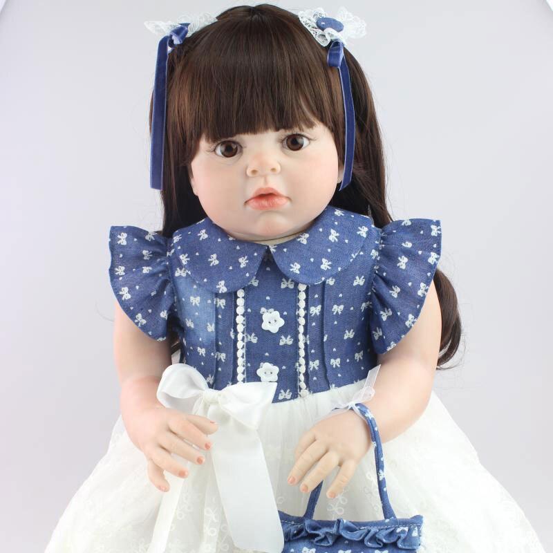 25inch Silicone Reborn Dolls Lifelike Newborn Babies Toys Juguetes Babies Toys Brinquedos boneca reborn babies For Girls Gift