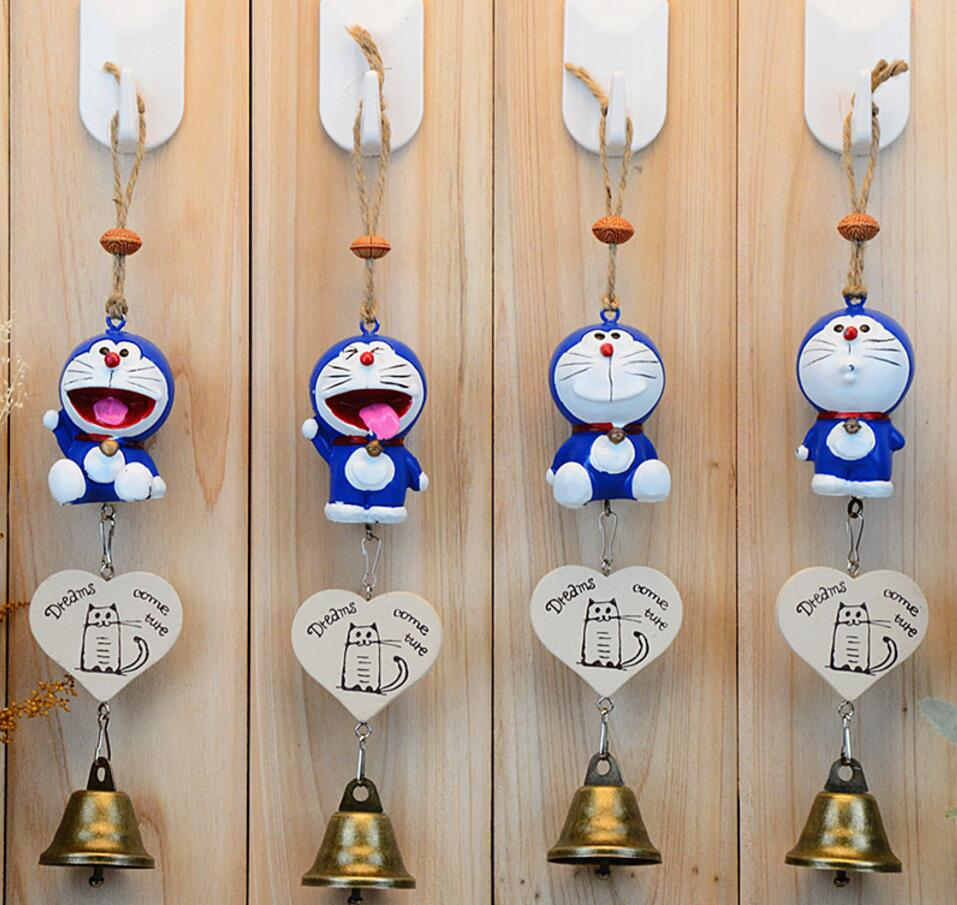 2pcs/Set Doraemon Dreams Come True Windbell Wind-bell For Home Hotel Hanging Decoration Wedding Party Birthday Gift Favors