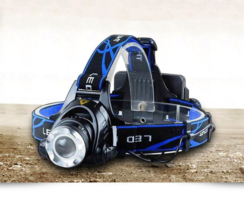 Powerful CREE XML T6 headlights headlamp Zoom waterproof 18650 rechargeable <font><b>battery</b></font> Led Head Lamp Bicycle Camping <font><b>Hiking</b></font> Light