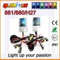 2 Pcs 12 V 55 W H27/880/881 HID xenon bulb Auto HID faróis amarelo rosa Roxo, xenon h27