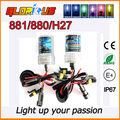 2 Pcs 12V 55W H27/880/881 HID xenon bulb Auto HID headlights yellow Purple pink ,xenon h27