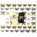 1 unids 3d Silver Gold Nail Art Sticker DIY diseños Glitter Bow Nails Tips manicura tatuajes de herramientas del clavo BLE745D