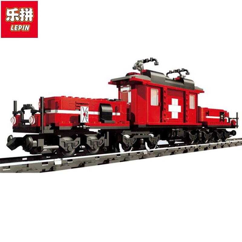 rl 21011 02 Lepin Creator 21011 Factory Hobby Train 1130pcs Building Block Set Boys Car Model Brick Toys Compatible 10183 with Manual
