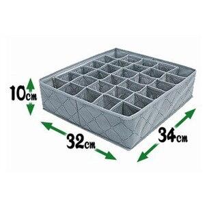 Image 2 - Organizer Portable 30 Grid Foldable Storage Box For Home Gadget Non woven Storage Bra Underwear Socks Finishing Box Organizador