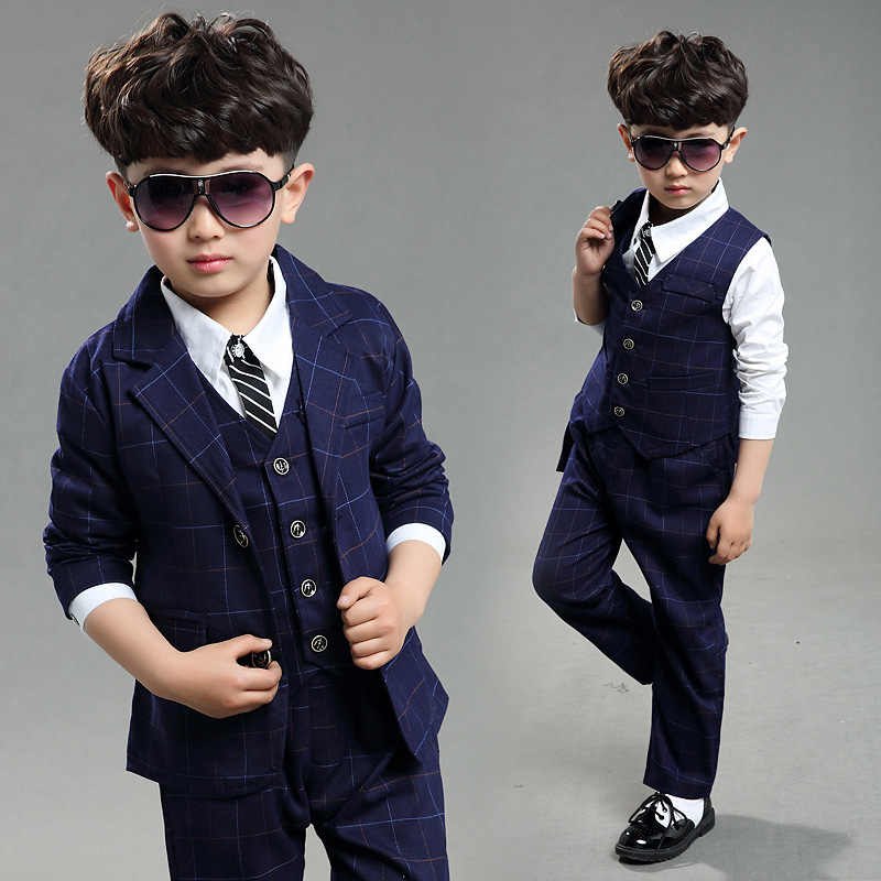 94f873fe1de1 2018 Children blue formal suits boy blazers set teenagers jacket trendy  winter cloth kids wedding coat