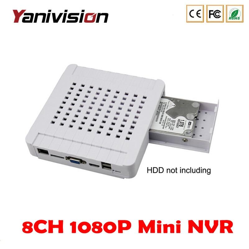 Yanivision DJ-3008M mobile VGA hdmi 4CH 8CH cctv dvr hd network video recorder 1080P 960P 720P p2p onvif Mini NVR Security NVR h 265 8ch 16ch network hd video recorder nvr p2p onivf security dvr hdmi vga hdd 5 0mp 1080p 720p