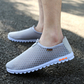 Hot Sale Fashion Men Casuals Male Cut-outs Canvas Shoes Flats Mesh Breathable Casual Lazy Men Summer Men Casuals 20