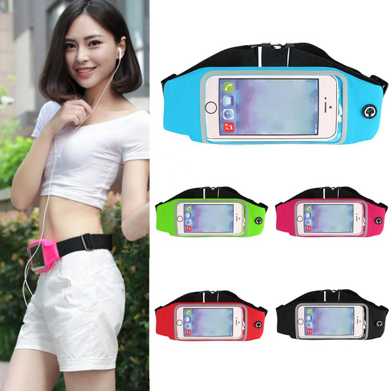 Waterproof Sport Waist Bag Screen Touching Belt Pouch Mobile Phone Holder Running Belt For IPhone For Samsung Exercise Accessory