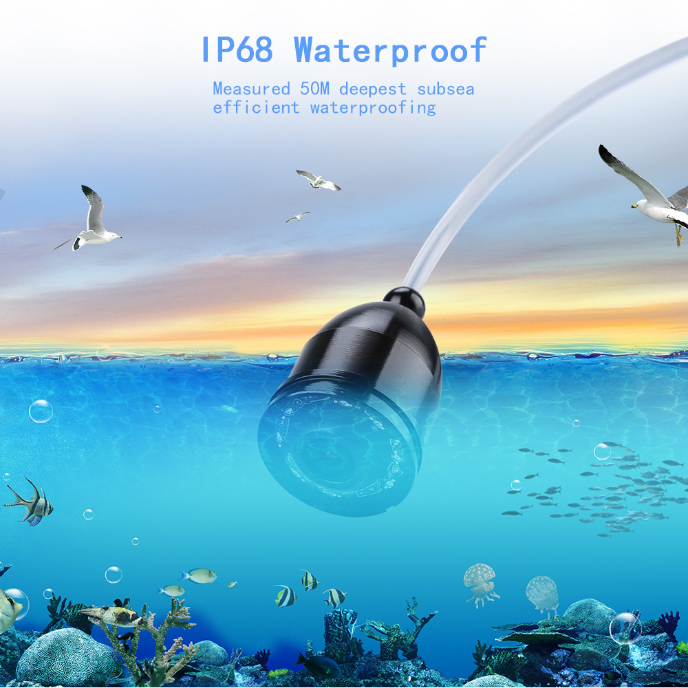 Eyoyo Brand New 15M 1000TVL Fish Finder 4 3 quot LCD Fishing Monitor Infrared LED Fishfinder Video Camera in Fish Finders from Sports amp Entertainment