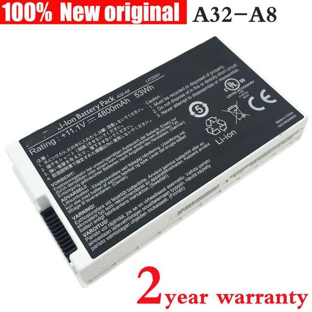Новые оригинальные Аккумулятор для Ноутбука ASUS A32-A8 F8 A8 A8000 X80 F99 N80 X88 F83 A8G A8H A8J N81 F81 X85 A8A