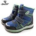 Зимние ботинки на меху QWEST (by FLAMINGO)  теплые Нескользящие водонепроницаемые детские зимние ботинки высокого качества для мальчиков  размер ...